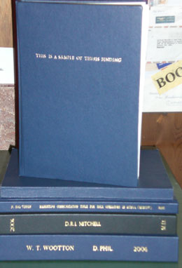 thesis bound bookbinders